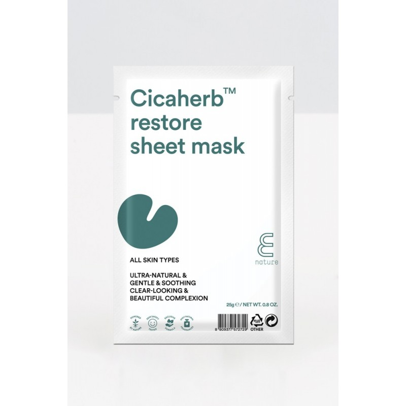 E NATURE CICAHERB RESTORE SHEET MASK - E-NATURE
