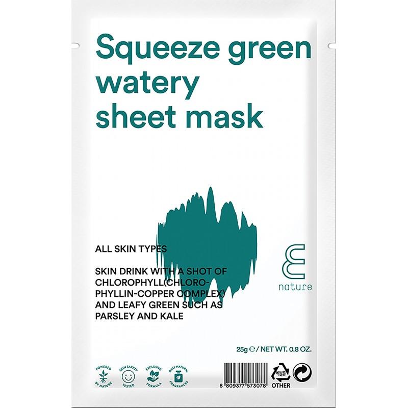 E NATURE SQUEEZE GREEN WATERY SHEET MASK - E-NATURE