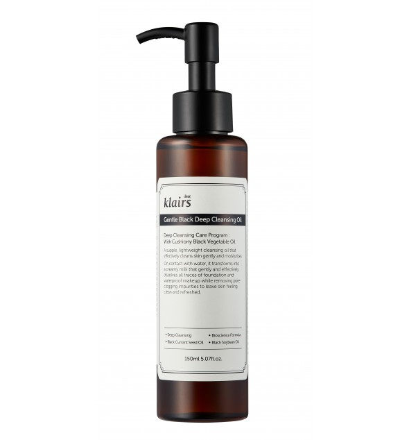 GENTLE BLACK DEEP CLEANSING OIL - KLAIRS