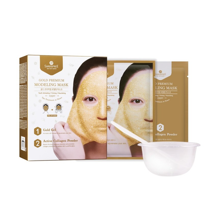 GOLD PREMIUM AMPOULE MODELING MASK - SHANGPREE