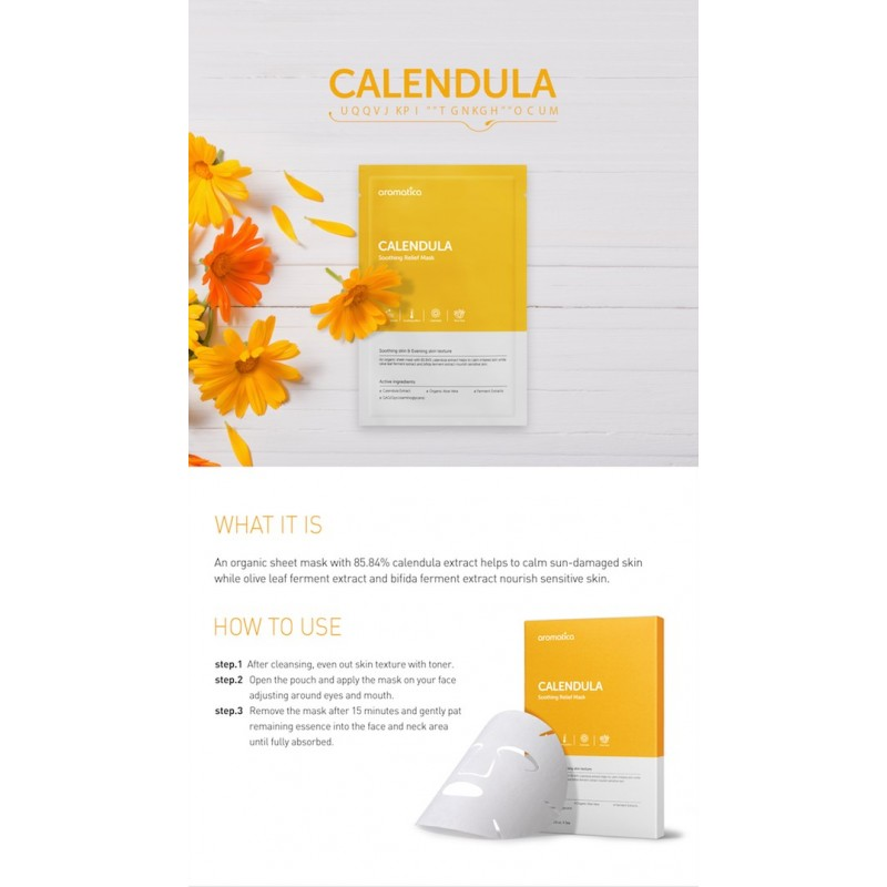 CALENDULA SOOTHING RELIEF MASK(SHEET) - AROMATICA