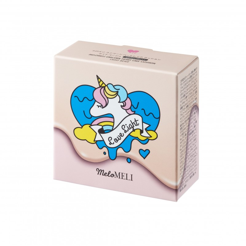 UNICORN HEART LAKE CUSHION LIGHT BEIGE - MELOMELI