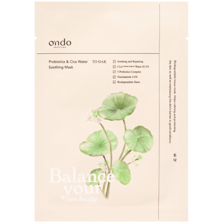 Ondo Beauty 36.5 - PROBIOTICS & CICA WATER SOOTHING MASK - TO DAK