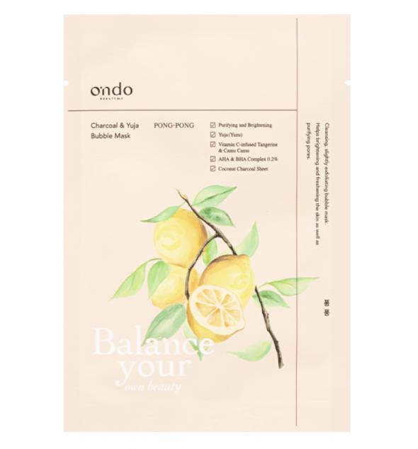 Ondo Beauty 36.5 - Charcoal & Yuja Bubble Mask Pong-Pong